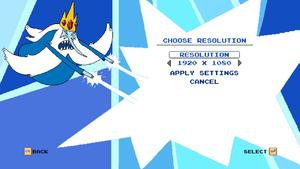 Resolution Menu