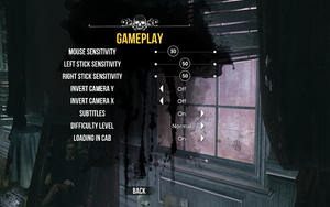 Gameplay settings.