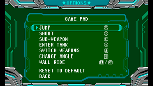 Controller mapping menu.