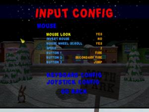 Mouse configuration.