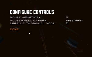 """""""Configure Controls"""" menu"""