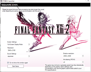 Final Fantasy XIII-2 - PCGamingWiki PCGW - bugs, fixes