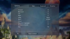 Keyboard remap settings.