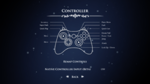 In-game controller settings