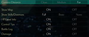 Battle UI settings
