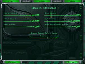 Audio settings (in-game).