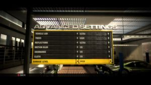 Advanced Graphics settings continued.
