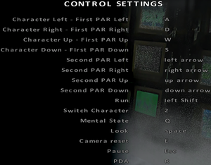 In-game keyboard key map settings.