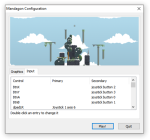 Input configuration.