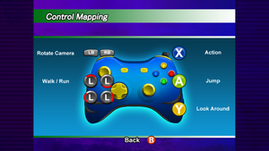 In game setting window for controller.