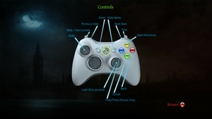In-game Xbox controller scheme.