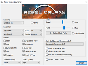 Launcher settings.