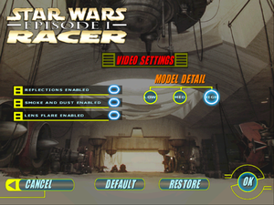 Star Wars: Episode I - Racer - PCGamingWiki PCGW - bugs