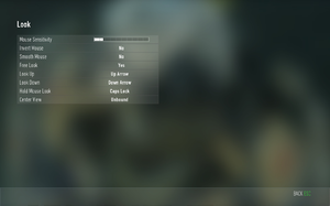 In-game key map/mouse settings.