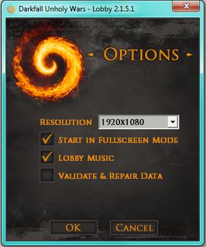 Lobby options.