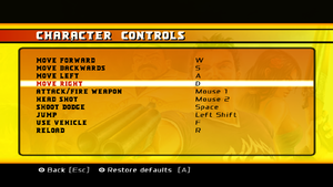 Input for on-foot controls