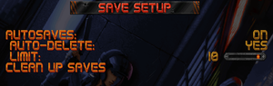 Save/autosave settings.