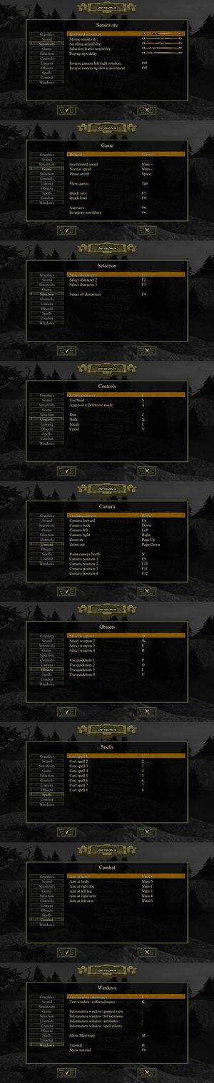 In-game-input settings.