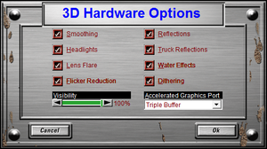 3D Hardware Options.