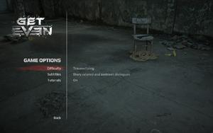 In-game gameplay settings.