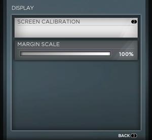 Display settings.