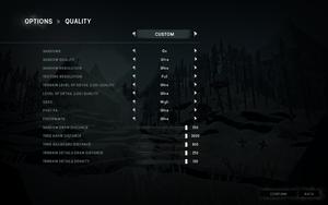 Quality settings.