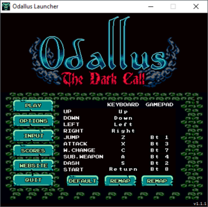 Launcher input settings.