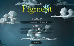 In-game language and subtitle settings.