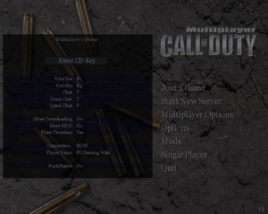 Call of Duty - PCGamingWiki PCGW - bugs, fixes, crashes