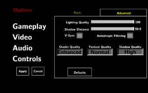In-game advanced video settings