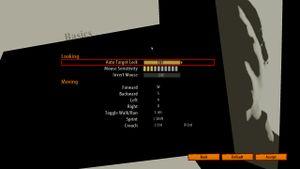 In-Game basic control Options Menu