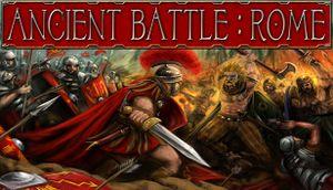 Ancient Battle: Rome cover
