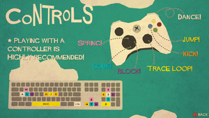 Keyboard/gamepad layout.