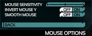 Control Mouse Settings.