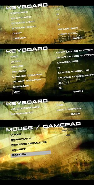Input settings and key mappings.