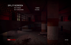 Splitscreen settings.