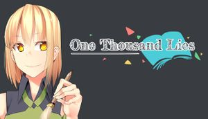 One Thousand Lies cover