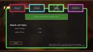 Audio/video sync settings.
