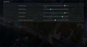 In-game audio settings