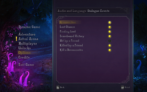 In-game audio settings 2.