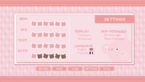 General options menu, Steam version.