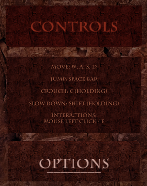 In-game controls layout.