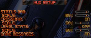 HUD options.