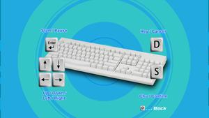 In game setting window for keyboard.