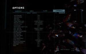 In-game keyboard and mouse remapping menu