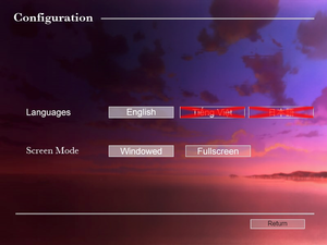 General settings for HTML5 version of the game.