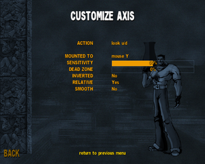 In-game axis settings.