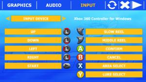 Launcher gamepad button map settings.