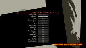 In-Game Graphics Options Menu