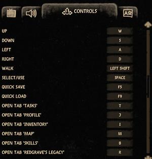 Keybinding settings.
